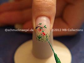 Nail art liner de color verde