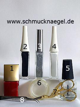 Productos para diseño Halloween calavera motivo de uñas - Esmalte, Nail art liner