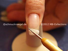 Purpurina para uñas en plata