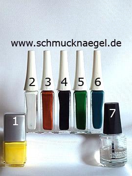 Productos para motivo paisaje decoración de uñas con esmaltes - Esmalte, Nail art liner