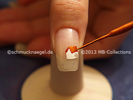 Nail art liner de color marrón
