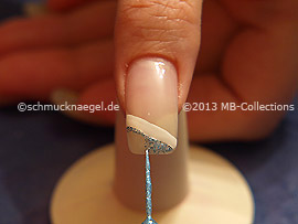 Nail art liner de color turquesa-Glitter