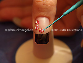 Nail art liner de color turquesa