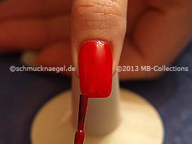 Esmalte en rojo