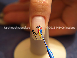 Nail art liner de color azul
