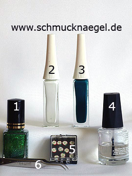 Productos para motivo fimo para uñas con laca glitter - Esmalte, Nail art liner, Frutas fimo