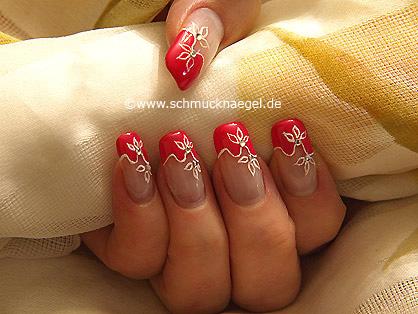 Motivo de uñas decoradas con piedras strass