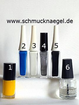 Productos para minions motivo para las uñas - Esmalte, Nail art liner