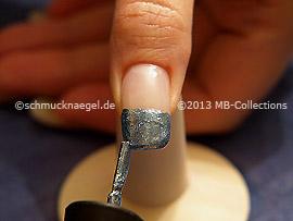 Esmalte de color azul gris