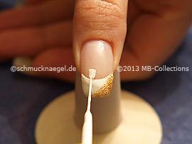 Nail art liner de color blanco y rojo