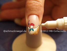 Nail art pen de color blanco