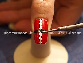 Nail art liner de color plata