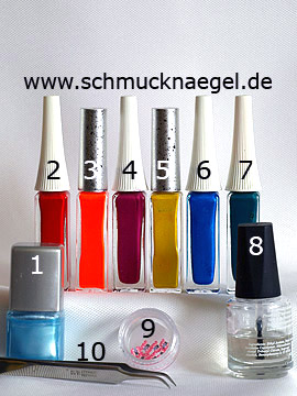 Productos para motivo arco iris con mariposa de fimo - Esmalte, Nail art liner, Animales fimo