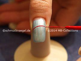 Nail art liner de color rojo, naranja, fucsia, amarillo y azul