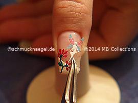 Pegatina elfa para uñas y pinzeta