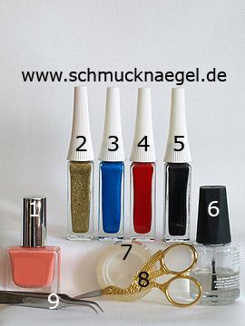 Productos para mariposas motivo de primavera para las uñas - Esmalte, Nail art liner