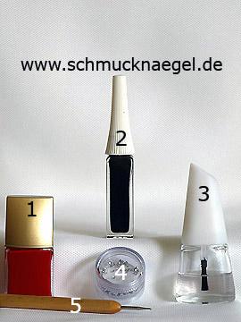 Productos para motivo ornamento para uñas con piedras strass - Esmalte, Nail art liner, Piedras strass, Spot-Swirl
