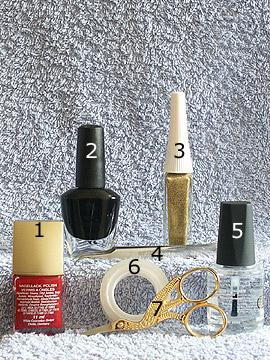 Productos para motivo Motivo corsé - Esmalte, Nail art liner, Esmalte transparente