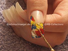 nail art liner de color oro-glitter