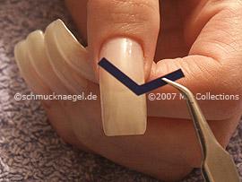 pinzeta y plantillas para manicura francesa