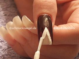 esmalte de color blanco