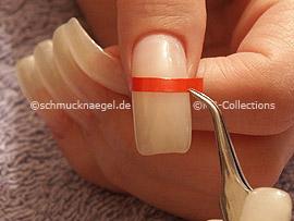pinzeta y plantilla para manicura francesa