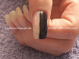 Esmalte de color negro