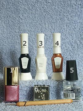 Productos para motivo cobertura en rosa oscuro - Esmalte, Nail art pen, Piedras strass, Spot-Swirl, Esmalte transparente