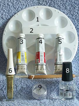 Productos para manicura de uñas con pintura acrílica - Acrílicas, Nail art liner, Piedras strass, Spot-Swirl, Esmalte transparente