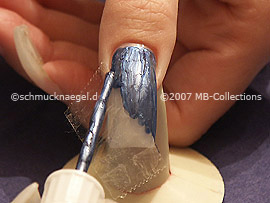 nail art pen de color azul gris