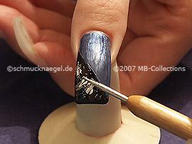 polvo de color plata y spot-swirl
