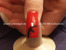 nail art liner de color blanco