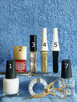Productos para diseño con campana de navidad - Esmalte, Nail art liner, Esmalte transparente