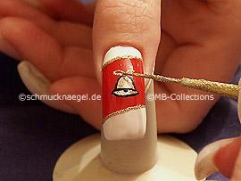 Nail art liner de color oro