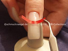 Plantilla adhesiva para manicura francesa