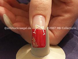 Nail art liner de color oro-metalico