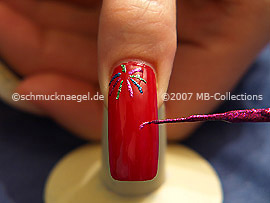 Nail art liner en fucsia-Glitter
