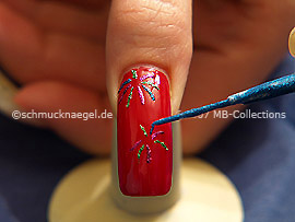 Nail art liner en azul-Glitter