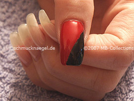 Nail polish in the colour black