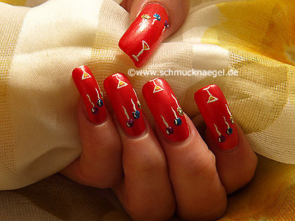 Fingernail design for New Year´s Eve
