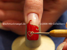 Nail art bouillons in gold