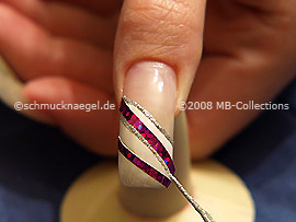 Nail art liner in the colour silver-Glitter
