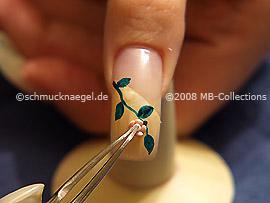 Ceramic-floret and tweezers