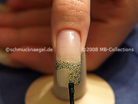 Nail lacquer in the colour green-Glitter