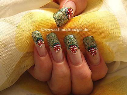 Easter egg as nail art motif