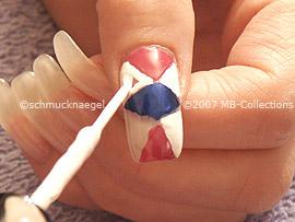 Nail polish in the colour white