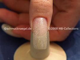 Glitter-Powder in silver and spot-swirl