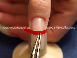 French manicure template and the tweezers