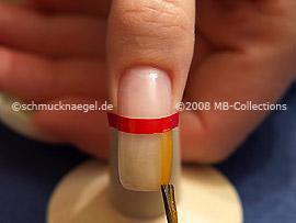Nail lacquer in the colour bright orange