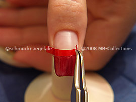 Remove the French manicure template